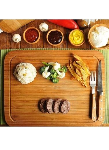 Bambum Bambum Talau Kesme & Steak Tahtasi Orta Renkli